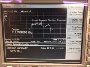 Afbeelding meting LTE Spectrum analyzer